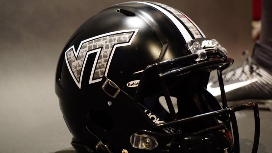 Medium NCAA Virginia Tech Hokies Adult School Name Over Logo Choice Tee Maroon