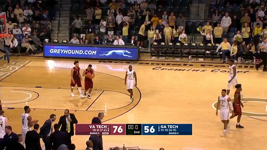 68710ef62da8 GIFTORY  Frame-by-Frame Highlight Reel of Virginia Tech s 76-56 Spanking of Georgia  Tech