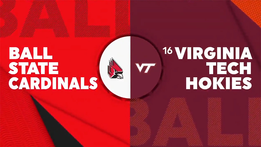 No. 16 Virginia Tech tops Ball State 73-64