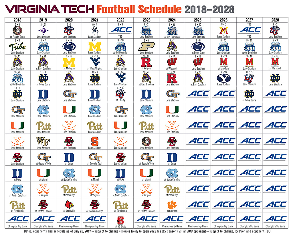 Vt Adds Future Games Against Byu Odu Vmi And Liberty The Key Play